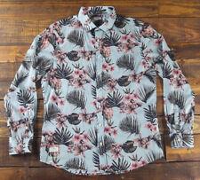 7 DIAMONDS Men's New Air Long Sleeve Floral Woven Mint Shirt Size L $99 SMK-5489