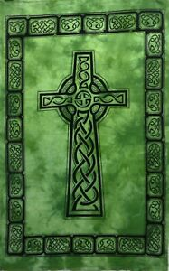 Tapestry Cross Sign Home Decorative Green Lord Jesus Wall Hanging Poster Throw