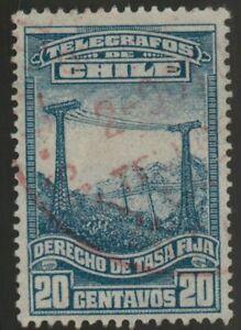 Chile 1929 #T21 Revenue a los Telegramas Tasa Fija Used (A633)