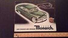 1949 MONARCH - Color Dealer Folder Brochure - Good - (CDN)