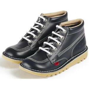 Kickers Kick Hi Womens Ladies Boys Girls Blue Ankle Boots Size Adult 3-6
