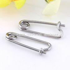 10x 16G Steel Safety Pin Nose Lip Nipple Eyebrow Earring Captive Rings Piercing