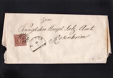 AD Bayern, Brief mit EF der 4 aus Dorfen 1857 nach Rosenheim