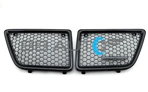 NEW 1992-1995 PONTIAC GRAND AM FRONT BUMPER GRILLES SET RH LH BLACK GRILL