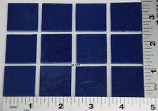 "0148.30 - 12 Pieces Indigo Blue Opal 1""x 1"" Bullseye 3mm Thick Glass 90 Coe"