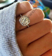 solid 10k white gold 2.25 ct d vvs1 round diamond solitaire halo engagement ring