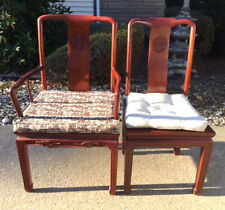 Two Chinese Hardwood Chairs; Armchair & Sidechair Lot 128