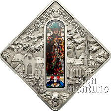 AUGSBURG CATHEDRAL Sacred Art Silver Coin Prophet Jonah Glass Window 2012 Palau