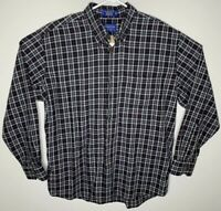 Pendleton Canterbury Cloth Button Plaid Shirt Wool Work Chore XL Rockabilly