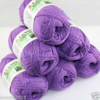 Sale New 6 Skeins x 50gr Soft Bamboo Cotton Hand Knitting Crochet Baby Yarn 922