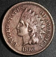 1880 INDIAN HEAD CENT - With LIBERTY - VF VERY FINE Details
