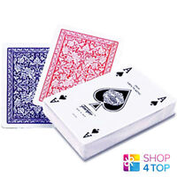 FOURNIER 2508 100% PLASTIC CASINO POKER PLAYING CARDS DECK STANDARD RED BLUE