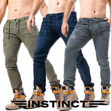 Pantaloni Tuta Uomo Sportivi per Palestra Fitness Sport con elastico felpa basic