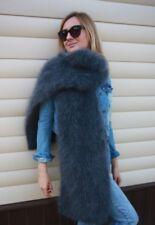 Premium Longhair Mohair Scarf hand knitting Dark gray Jane Rodas