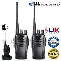Midland G10 PMR446 License Free Handheld Two Way Radio Walkie Talkie Twin