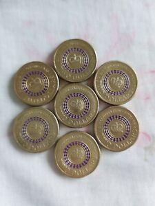 2013 Australian Two Dollar $2 Coin Purple Queen Coronation Royalty Collectable
