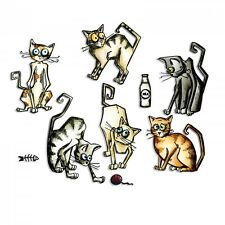 Tim Holtz Sizzix Thinlits Die ~ CRAZY CATS ~ Alterations 661209 Framelits