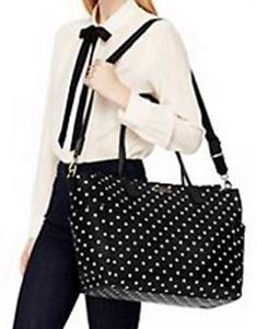 Kate Spade New York Baby Bag Taden Blake Avenue in Diamond Dot Black White Polka