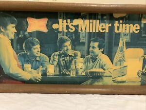 "1980 ""It's Miller Time"" Miller High Life Beer Lighted Advertising Bar Sign"
