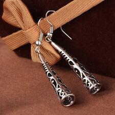 National Style Earrings Eardrop Jewelry Women Vintage Silver Fashion Hollow