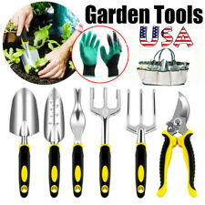 9Pcs Garden Yard Plant Flower Care Hand Tools Gardening Plant Tool Set w/ Case