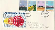 9 MARCH 1983 COMMONWEALTH DAY MERCURY FIRST DAY COVER REDHILL FDI