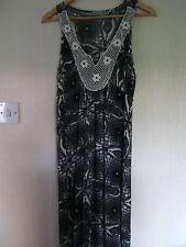 """Unity World Noir et Blanc (Crème) tribal robe longue S 34"""" -36"""" tour de poitrine"""