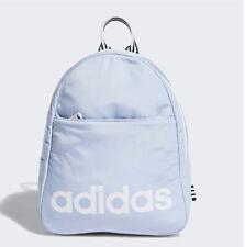 Adults Unisex Adidas Originals Core Mini Backpack Front Pocket Glow Blue/White