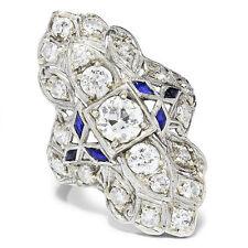 Mine Cut Diamond Ring