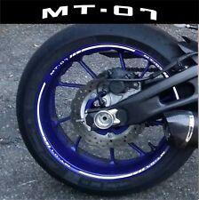 LISERETS JANTES MOTO MT07 MT 07 STICKERS  kit pour 2 jantes 40 couleurs