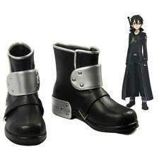 Sword Art Online SAO Kirito Kazuto Kirigaya Swordsman Cosplay Shoes Boots Custom
