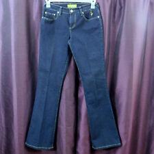 Baby Phat Jeans Boot Cut Flare Dark Wash Blue Jeans Cat Logo Pocket Junior's 3