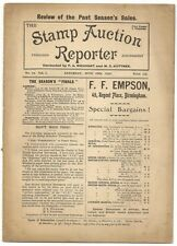 June 1898 Stamp Auction Reporter #12 incl. prices realized for today's rarities