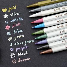Metallic Marker Pens Gold Silver White Pink Color Ink Scrapbook Card Making