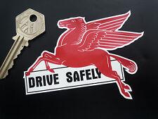 "Mobil Pegasus conducir con seguridad lamer 'n' Stick ventana calcomanía 4 ""de estilo Retro Americana de coche"