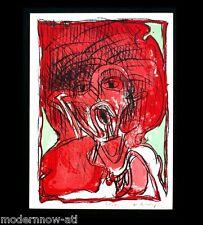 Pierre Alechinsky Lithographie Édition Limitée 6/150 Signé à la Main sur Arches