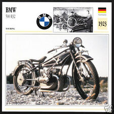 1923 BMW 500cc R32 (494cc) 1st Beamer Motorcycle Photo Spec Sheet Info Stat Card