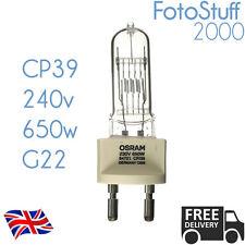CP39 FKH 230v 650w G22 Osram 64721 88531 Theatre Stage Bulb Lamp CP39 FKH