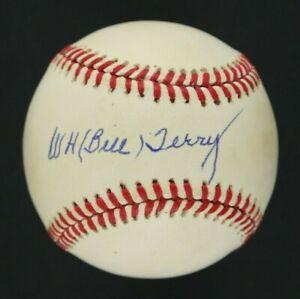 Bill Terry Baseball Hall of Fame AUTOGRAPHED Rawlings Baseball