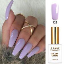 RS Nail UV Gel Colour Gel Nails Polish Varnish LED Soak Off 15ml Purply Grey New