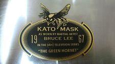 CUSTOM 1967 KATO MASK DISPLAY NAME PLATE GREEN HORNET TV SERIES BRUCE LEE