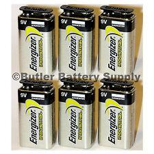 6 Energizer Industrial 9 Volt (9V) Alkaline Batteries (EN22, 6LR61, 1604)