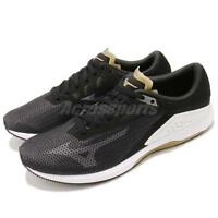 Mizuno Wave Sonic Black White Brown Men Running Shoes Sneakers J1GC1734-11