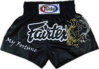 Fairtex Embroided Muay Thai MMA K1 Boxing Shorts My Fortune Black Satin BS0639