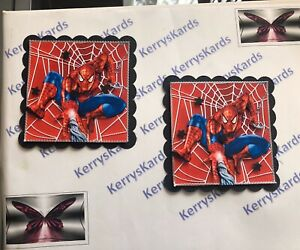 2 x Decoupage Pictures of Spidermann Theme Toppers