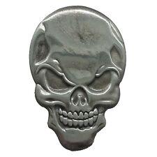 Pin's Biker épinglette Skull tête de mort diabolique custom sacoche moto