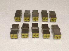 Lot of 10 - Dual Fiber Optic Cable Coupler, LC-LC SM Coupling Connector (Metal)