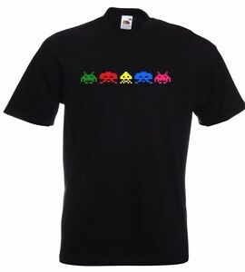 New Retro Classic Video Games Gaming Arcade 5 SPACE INVADERS funny gift T SHIRT