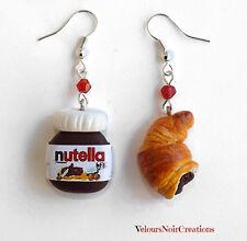 Orecchini nutella e croissant in fimo cioccolata cornetto dolci