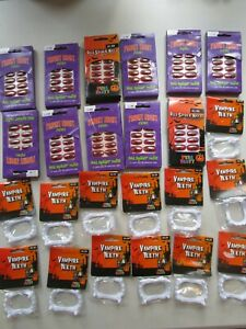 24 x Halloween Party Bag Favours Treats Prizes Unisex Spider Nails Vampire Teeth